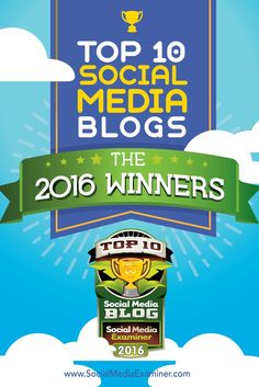 Are you looking for some great social media blogs to add to your daily reading? Look no further!  Our seventh-annual social media blog contest generated over 300 nominations. A panel of experts carefully reviewed the 20 finalists based on their content quality, post frequency and reader involvement.  Here are the top 10 social media blogs you should add to your regular reading list in 2016. Via @smexaminer.