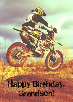 Custom Name - Birthday for Boy - Dirt Bike Card Happy Birthday Special Friend, Happy Birthday Blue, Todays Birthday, Happy Birthday Quotes, Boy Birthday, Father Birthday Cards, Create Birthday Card, Birthday Cards For Boys, Funny Birthday Cards