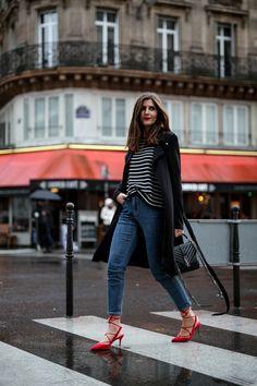 Parisienne Outfit - Stripes & Trenchcoat - Simple et Chic - Fashion & Lifestyle Blog