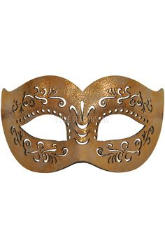 The Divine Stranger Masquerade Mask (Copper) is a leather-like laser cut mask with elegant cuts-outs. This enticing mask would be perfect for your secret rendezvous.