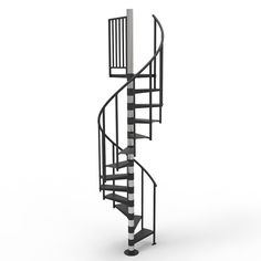 Dolle 4 Ft 7 In Barcelona Black Spiral Staircase Kit