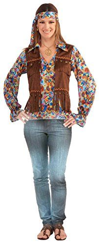 [Halloween Costumes Women] Forum Novelties Women's Generation Hippie Groovy Costume Set, Multi, One Size >>> Check this awesome product by going to the link at the image. (This is an affiliate link) #HalloweenCostumesWomen
