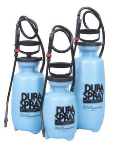 DuraSpray Industrial One Gallon Poly Sprayer . $30.49. The DuraSpray is an economically priced all Poly Sprayer. Built to industrial standards yet offers a low price. Durable Buna-N gaskets and seals 1 gallon Large funnel top for easy filling Pin to cone adjustable spray tip Fully field repairable