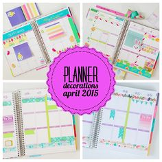 I'm hoping to get these planner posts more real time soon. For now, here are Planner Decoration Ideas: April 2015 (Erin Condren Vertical). But first… Did anyone take advantage of the HU…