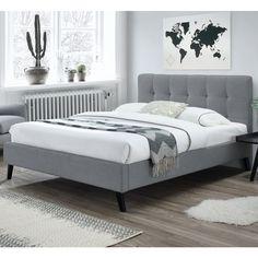 Bella Semi Double Grey Bedroom Bed, Bedroom Furniture, Ravenna, My Room, Mattress, Grey, Home Decor, Air Bnb, Ideas