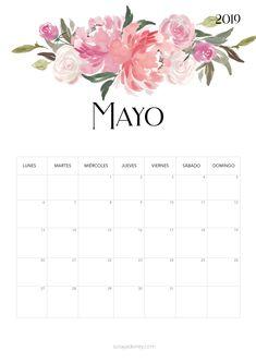 Calendario para imprimir Mayo 2019  #calendario #calendar #mayo #may #freebie #printable #imprimir #flores #flowers #papeleria Calendar Wallpaper, Print Calendar, Calendar Pages, Calendar Design, Iphone Wallpaper, Diy Agenda, Agenda Planner, Printable Planner, Planner Stickers