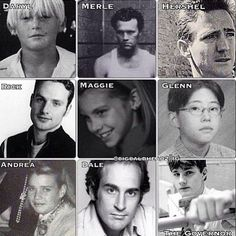 People from TWD before they were on the show. Whoever did this watches this show RELEGIOUSLY