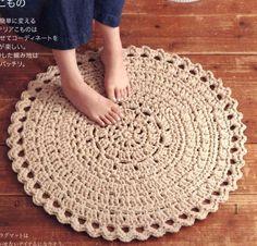 거실과 침실에 잘 어울릴 러그, 코바늘 무료도안, 공개도안 : 네이버 블로그 Crochet Home, Knit Crochet, Doilies, Cross Stitch, Rugs, Knitting, Pattern, Home Decor, Farmhouse Rugs