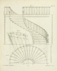 No photo description available. Spiral Staircase Dimensions, Spiral Staircase Plan, Staircase Design, Stair Design, Stairs Architecture, Architecture Magazines, Architecture Details, Classical Architecture, Building Sketch