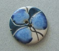 Large Hand Made Ceramic Button-CB28