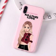 Blackpink Kill This Love Silicone Phone Case for iPhone Kpop Phone Cases, Kawaii Phone Case, Iphone Phone Cases, Phone Covers, Iphone 7 Plus, Whistles Tops, Silicone Iphone Cases, Black Pink Kpop, Kpop Merch