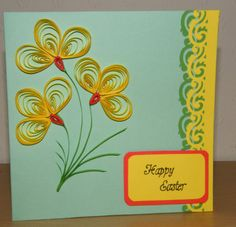 Quilled paper Easter card