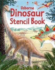 Usborne Dinosaur Stencil Book $13.99 in stock & same day shipping! Shop www.DinosaurToysSuperstore.com