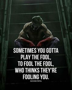 Sometimes you gotta play the fool... but u didn't fool one person. Still don't and never will. U did what u did and went on with your life. She didn't matter and she was more important than anything else. But thank you. That was the best part of it all. Now go on, now u have yours too. ;) meanwhile thank you for my biggest blessing. VC ✌