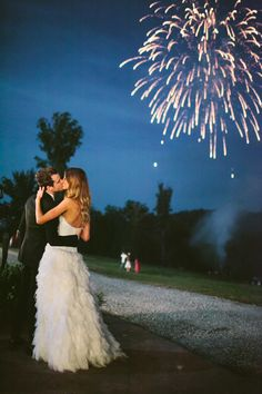 Wedding fireworks - these are a must! We both LOVE fireworks! Anyone who has spent 4th of july or new years with us knows how much we love to blow stuff up O:-)