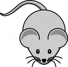 Einfache Cartoon-Maus clip art