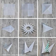 I'll give you a light – Christmas star fold from parchment - Crafts Diy Origami Diy, Origami Paper Folding, Useful Origami, Paper Crafts Origami, Christmas Origami, Christmas Star, Christmas Crafts, Paper Crafts For Kids, Diy Arts And Crafts
