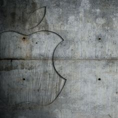 Concrete Apple - iPad Wallpaper