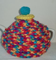 coat of many colours ....hand knitted tea cosy by peerietreisures, £10.50