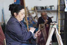 Las Rederas, elaboración artesanal de redes de pesca. Tienda de artesanía.
