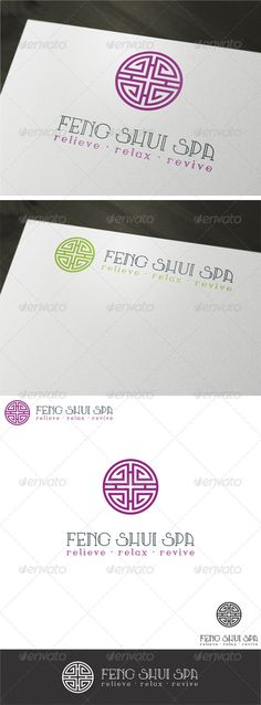Feng Shui Spa Logo Template by EladChai A clean modern logo design that perfectly fits to any chinese based, feng shui, spa, massage clinics, businesses and companies. •
