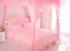 High Quality Elegant Bowknot And Lace Pattern Cotton Duvet Cover Sets Pink Bedroom Decor, Pink Bedroom For Girls, Pink Bedrooms, Pink Room, Diy Room Decor, Bedroom Ideas, Baby Girl Bedding Sets, Bed Bath & Beyond, Casas Shabby Chic