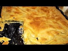 YouTube Greek Pita, Pita Recipes, Spanakopita, Desert Recipes, Food Deserts, Desserts, Pie, Cooking, Ethnic Recipes