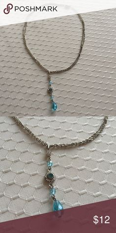 Blue & silver necklace Like new Jewelry Necklaces
