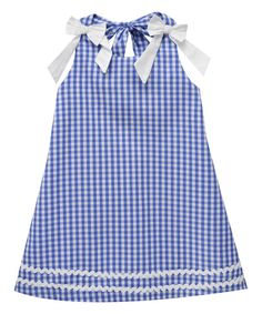 Look at this Cotton Blu & Cotton Pink Royal Blue Checkerboard Dress - Infant, Toddler & Girls on #zulily today!