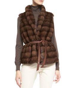Losana+Mink+Fur+&+Cashmere+Vest+by+Loro+Piana+at+Bergdorf+Goodman.