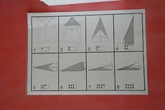 stappenplan vliegtuig vouwen  + ideetjes thema vliegen