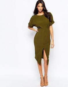 Image 1 ofASOS Wiggle Dress with Split Front