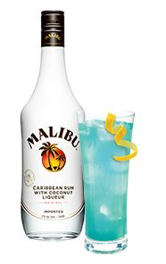 Deep Blue Punch - Malibu Best Summer Ever - coconut rum, blue curacao, pineapple juice, lemon lime soda
