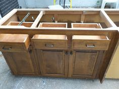Here is an unfinished cabinet unit that can be used to make your DIY ...