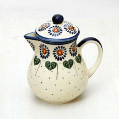 Polish pottery - teapot or coffee pot.. my heritage has such beautiful stuff!! cant go wrong with hungarian, polish & serbian