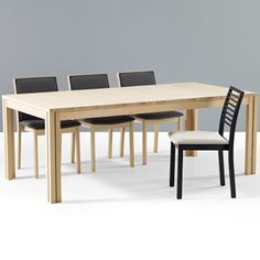 Awesome extension table - seats from 6 to 20 people.  Great for those with a small apartment who also want to be able to host Thanksgiving dinner!  Skovby Rectangular Extending Dining Table SM 24 at SmartFurniture.com