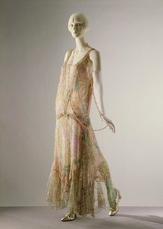 Evening dress, petticoat and belt Place of origin: Paris, France (made) Date: ca. 1922 (made) Artist/Maker: Callot Soeurs