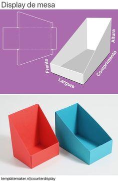 Cardboard Box Crafts, Paper Crafts Origami, Counter Display, Display Boxes, Carton Diy, Paper Box Template, Box Template Printable, Diy Papier, Diy Home Crafts