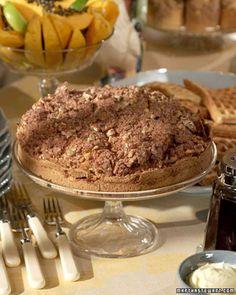 Sour Cream Coffee Cake Recipe | Martha Stewart.  Can easily add 2 cups finely shredded zucchini or carrot.