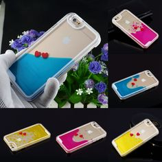 Cute Freedom Heart Liquid Dynamic Hard Case Cover For iphone 5S /6 /6 Plus