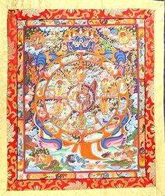 Buddhist Wall Decor Hanging Silk Canvas Scroll Art Inspired by ...