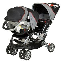 Baby Trend - Sit N Stand Plus Double Stroller, Millennium (stroller only, no car seat). Double Baby Strollers, Best Double Stroller, Twin Strollers, Baby Trend Car Seat, Baby Car Seats, Car Seat And Stroller, Toddler Stroller, Dog Stroller, Umbrella Stroller
