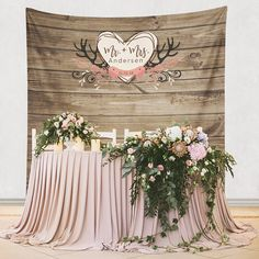 Rustic Wedding Backdrop, Floral Backdrop, Step And Repeat Backdrop ...