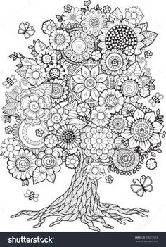 Coloring Book For Adult. Doodles For Meditat. Coloring Book For Adult. Doodles For Meditation Stock Vectors and millions of other royalty-free stock photos, ill. Mandala Coloring Pages, Coloring Book Pages, Printable Coloring Pages, Coloring Sheets, Zentangle Patterns, Embroidery Patterns, Zentangles, Spirograph, Blossom Trees