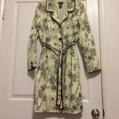 Jacket Yellow floral jacket 100% cotton side pockets For Joseph Jackets & Coats Trench Coats