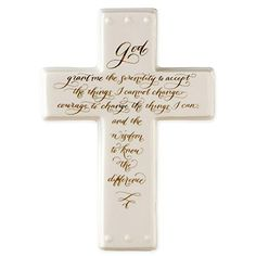 Serenity Prayer Porcelain Hanging Wall Cross >>> Read more at the image link.