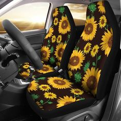 Sugar Skull 3D Print Auto Seat Covers Floral Vehicle Seat Protector Car Mat Cover/£/¬Fit Most Cars Sedan SUV,Van