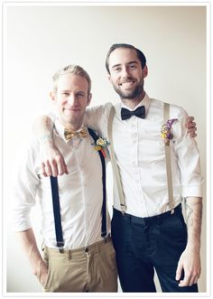 Brent wants to wear this, suspenders and bow tie groomsmen