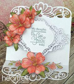 "Heartfelt Creations Cut /& Emboss Dies-Classic Rose Vines 1.5/"" To 4.75/"""