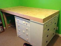 DIY loft bed-Maybe set on top of Jack's long dresser
